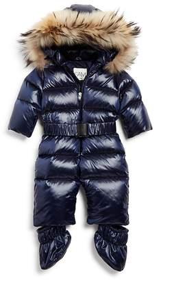 SAM. Unisex Snowbunny Snowsuit with Fur-Trimmed Hood - Baby