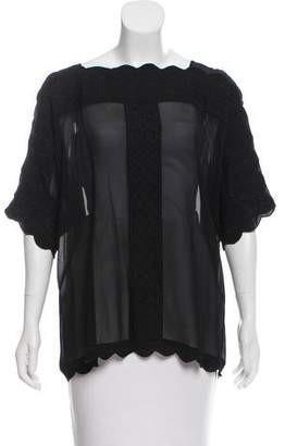 Etoile Isabel Marant Embroidered Sheer Top