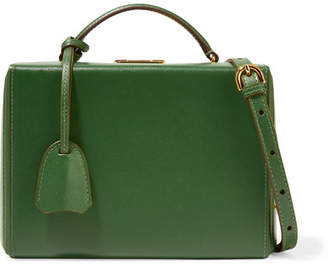 Mark Cross Grace Small Textured-leather Shoulder Bag - Leaf green