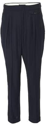 Isabel Marant Pelissa pleated wool-blend pants