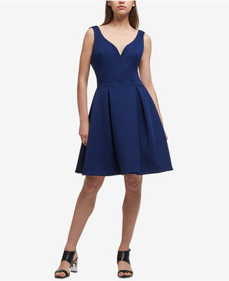 DKNY Sweetheart Scuba Fit & Flare Dress, Created for Macy's