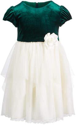Bonnie Jean Little Girls Velvet Organza Dress