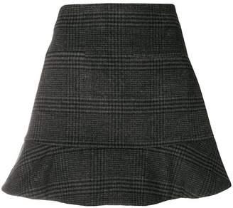 Ganni checked mini skirt