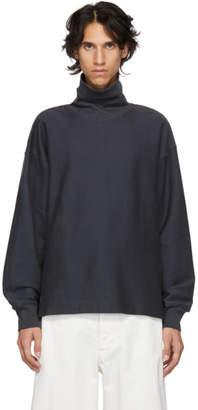 Lemaire Grey Cotton Turtleneck
