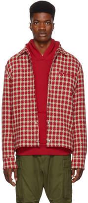Simon Miller Red Dimensional Plaid Shirt