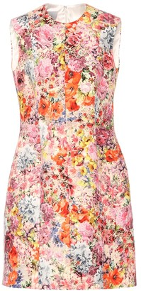 Valentino Floral-printed silk-blend dress