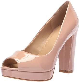 The Fix Women's Veronica Platform Peep Toe Pump