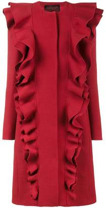 Giambattista Valli single breasted double frill coat