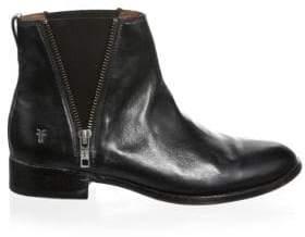 Frye Women's Carly Zip Leather Chelsea Boots - Black - Size 7.5