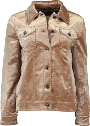 Brunello Cucinelli Crushed Beaver Velvet Jacket