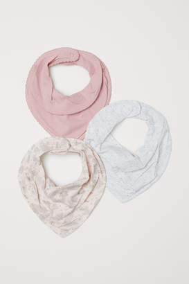 H&M 3-pack Triangular Scarves - Pink