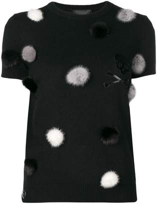 Philipp Plein pom pom detail sweater
