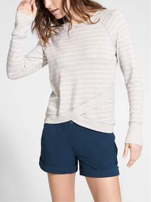 Athleta Stripe Criss Cross Sweatshirt