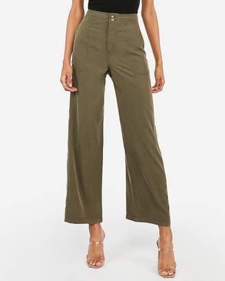 Express High Waisted Wide Leg Utility Pant