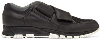Lanvin Black Strap Sneakers