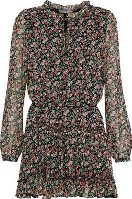 Rebecca Minkoff Rosemary Floral-Print Chiffon Mini Dress