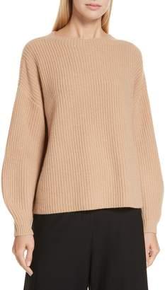 Eileen Fisher Crewneck Shaker Cashmere Sweater