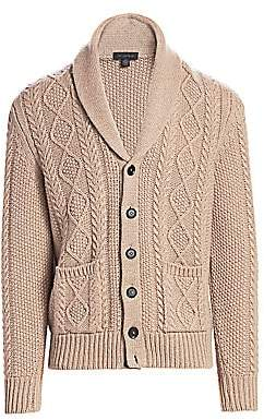 Saks Fifth Avenue Wool & Cashmere Cable-Knit Shawl Cardigan