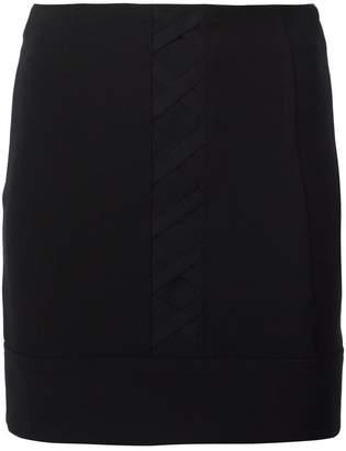 Neil Barrett criss-cross front skirt