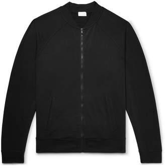 Handvaerk Loopback Stretch-Cotton Jersey Bomber Jacket