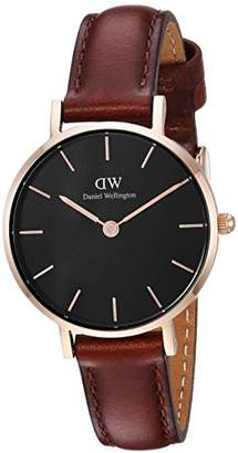 Daniel Wellington Classic Petite St Mawes in Black 28mm