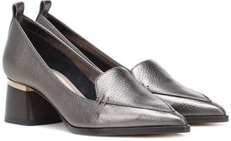 Nicholas Kirkwood Leather block heel loafers