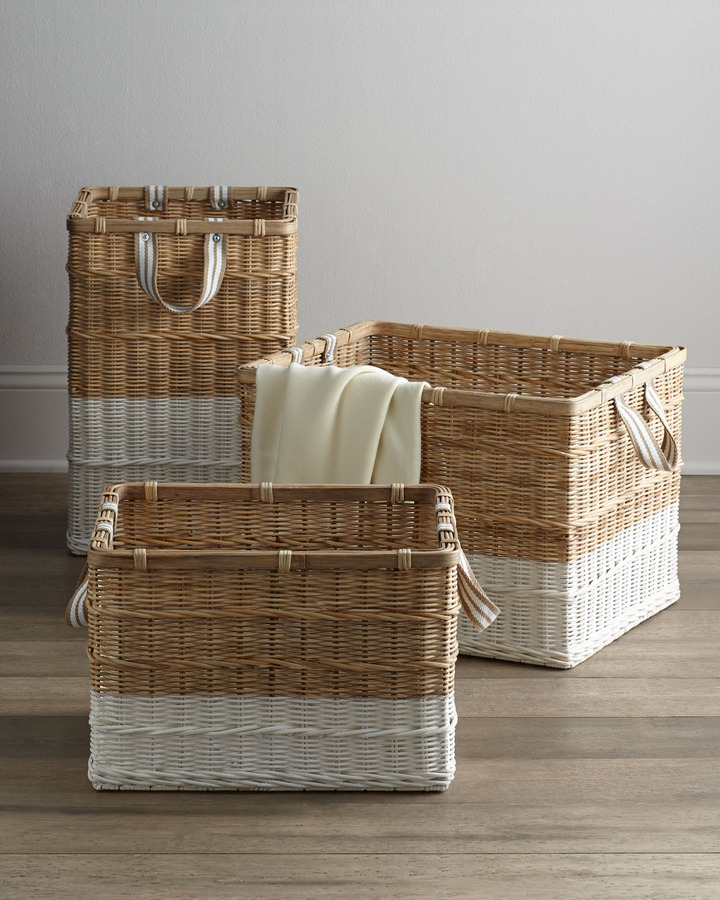 "Horchow Woven ""Dipped"" Baskets"