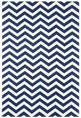 Debenhams Asiatic Dark Blue Onix Zigzag Rug