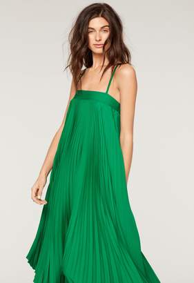 Milly MillyMilly Stretch Silk Pleated Irene Dress