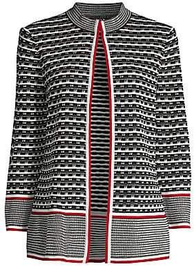 Misook Women's Wavy Line Knit Jacket
