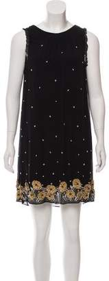 Alice + Olivia Silk Beaded Dress