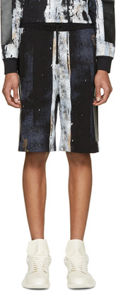 Hood by Air Black Acid Rinse Box Shorts $295 thestylecure.com