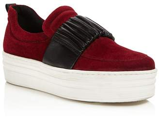 Daniella Lehavi Women's Boston Suede Platform Slip-On Sneakers