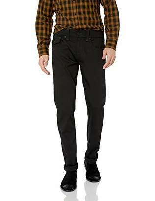 True Religion Men's Blackout Geno Flap SE Jeans in Wash