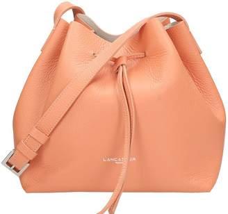 Lancaster Paris Small Bucket Pinnk Peach Saffiano Leather