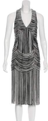 Haute Hippie Fringed Sleeveless Dress