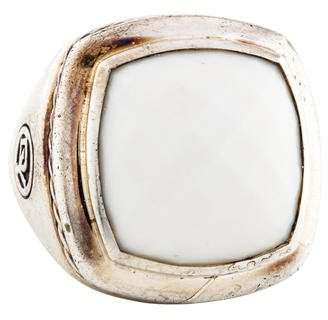 David Yurman White Agate Albion Ring