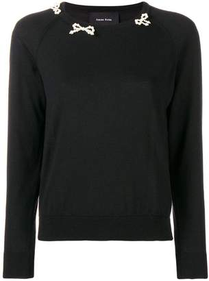 Simone Rocha beaded bow sweater