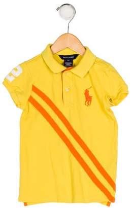 Ralph Lauren Girls' Collar Polo Top