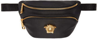Versace Black Leather Medusa Belt Pouch