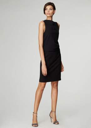 Giorgio Armani Milano Stitch Jersey Dress With Draped Bodice