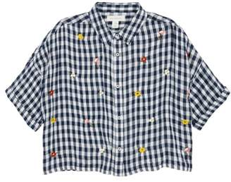 Treasure & Bond Gingham Embroidered Shirt