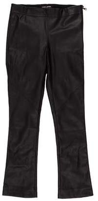 David Lerner Mid-Rise Faux Leather Pants