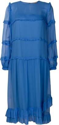 No.21 ruffle detail layered dress