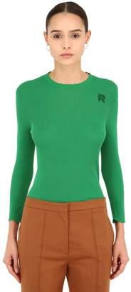 Rochas Cotton Rib Knit Sweater