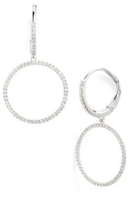 Women's Bony Levy Diamond Frontal Hoop Earrings (Nordstrom Exclusive) $1,995 thestylecure.com