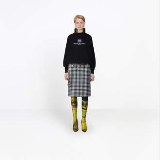 Balenciaga Fleece wool embroidered crewneck sweater
