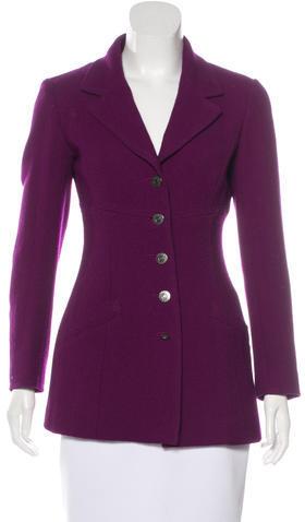 ChanelChanel Wool Notch-Lapel Blazer