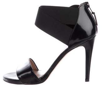 Stuart Weitzman Leather Ankle Strap Sandals