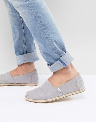dedab80c1d1 Toms espadrilles in grey linen with rope detail